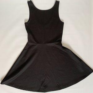 H&M skater A-Line textured pattern black dress